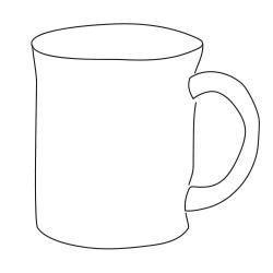 an image of a sketched mug