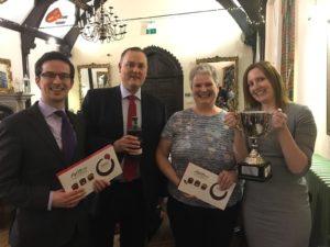 Butcher & Barlow's winning team.